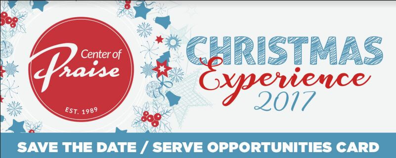 Christmas Experience 2017 Serve Opportunitites